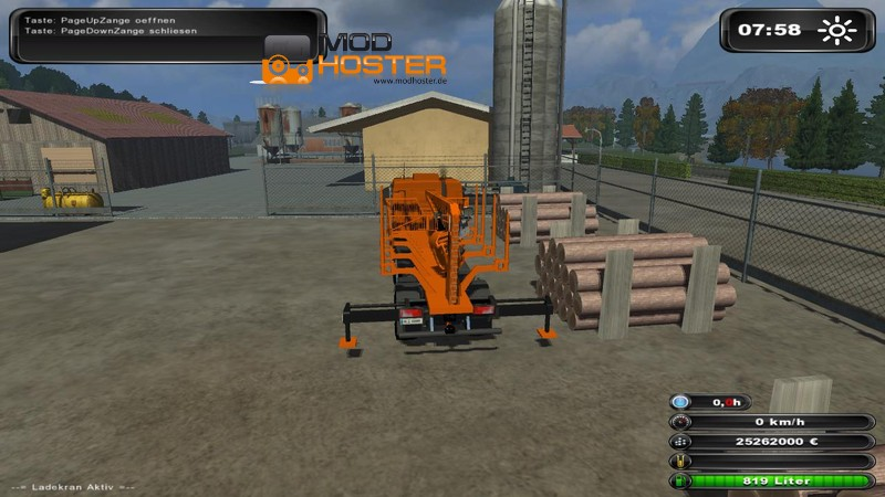 fs 2011 log truck with a crane including pliers local v 2 other vehicles mod f r farming. Black Bedroom Furniture Sets. Home Design Ideas