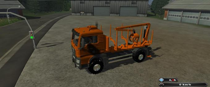 fs 2011 truck with crane including pliers v 1 0 kommunal man mod f r farming simulator 2011. Black Bedroom Furniture Sets. Home Design Ideas