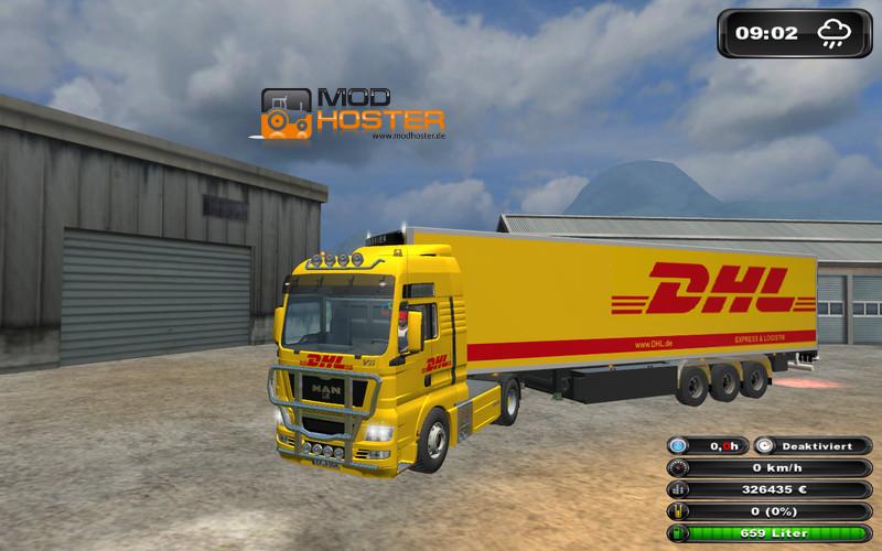 ls 2011 dhl truck trailer pack v 2 0 mod packs mod f r landwirtschafts simulator 2011. Black Bedroom Furniture Sets. Home Design Ideas