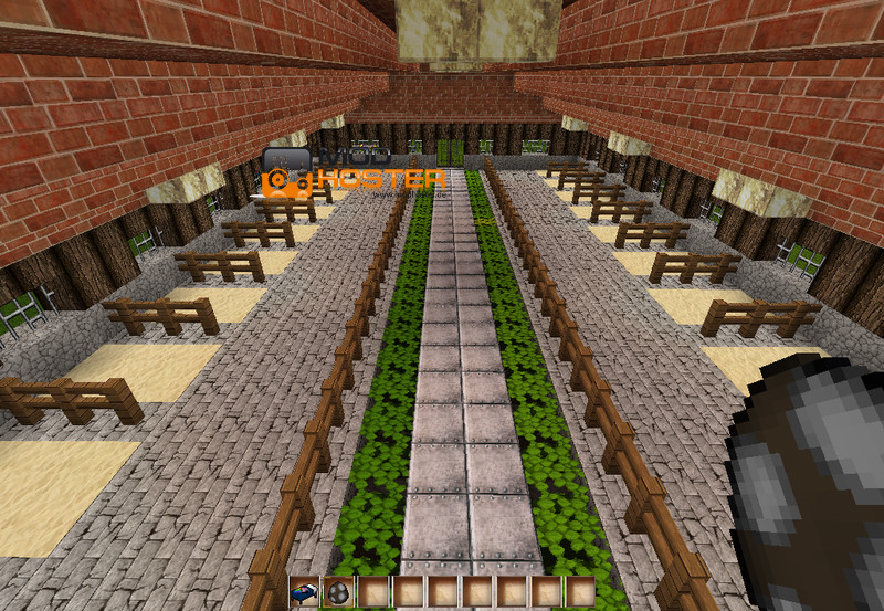 how to build a cowshed in minecraft