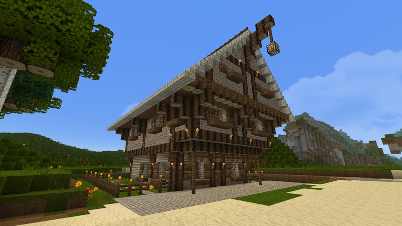 Minecraft sch nes haus v 1 0 maps mod f r minecraft for Minecraft holzhaus