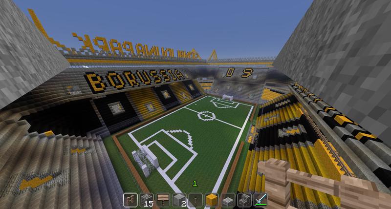 Minecraft Stadion Bauplan