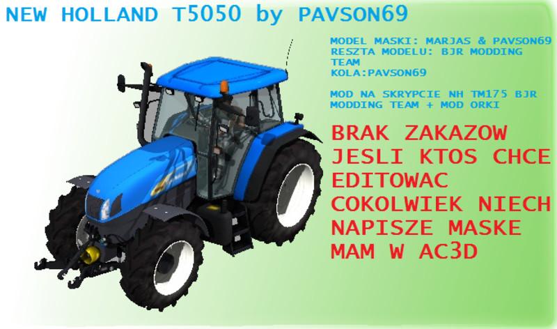 FS 2011: New holland T5050 v 1 PloughingSpec New Holland Mod für