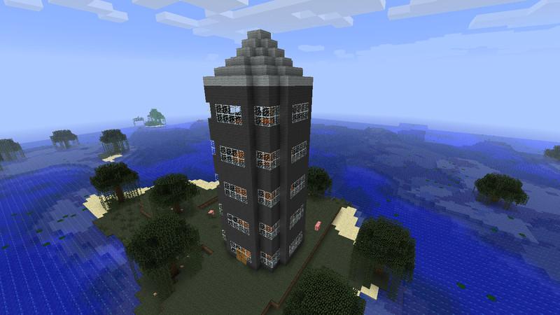 Minecraft pixelsumpf haus v 1 0 adventure mod f r - Minecraft hochhaus ...
