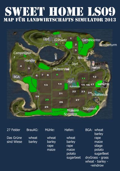 LS 2013: sweet home LS09 v 1.0 Maps Mod für Landwirtschafts Simulator