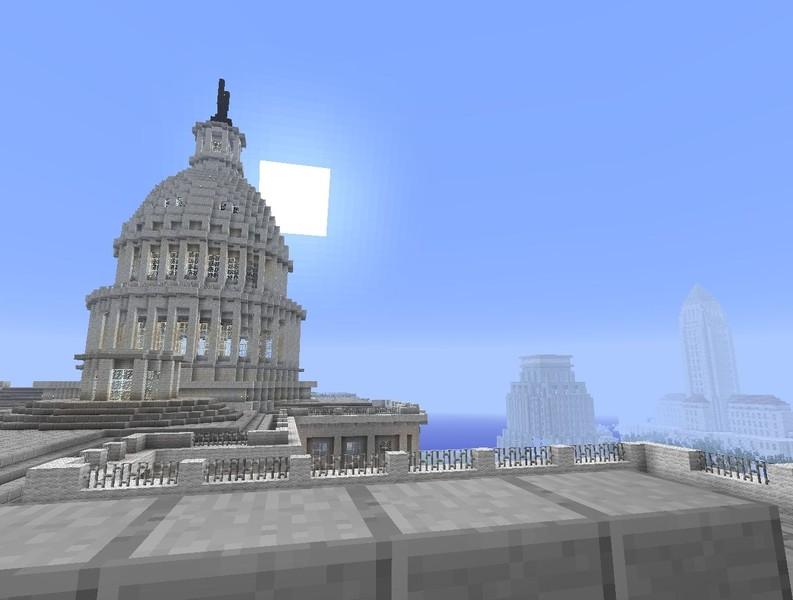Minecraft The United States Capitol V Maps Mod Für Minecraft - Minecraft us capitol map