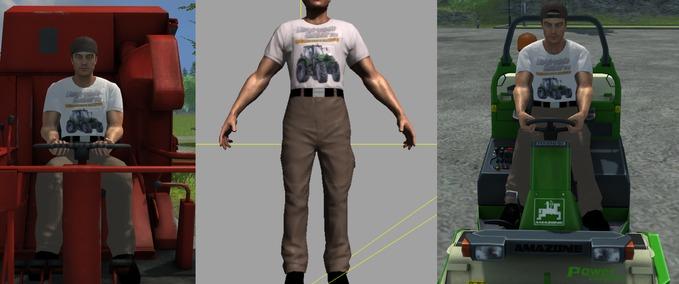 Farmer-mit-ls-t-shirt