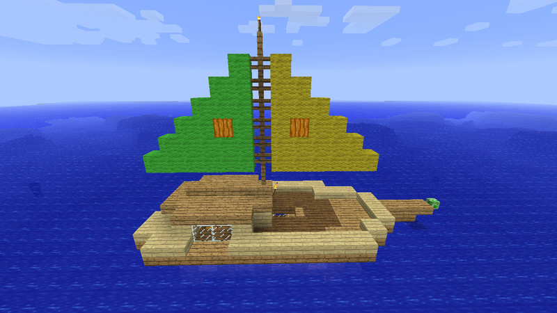 how to ride a boat in minecraft