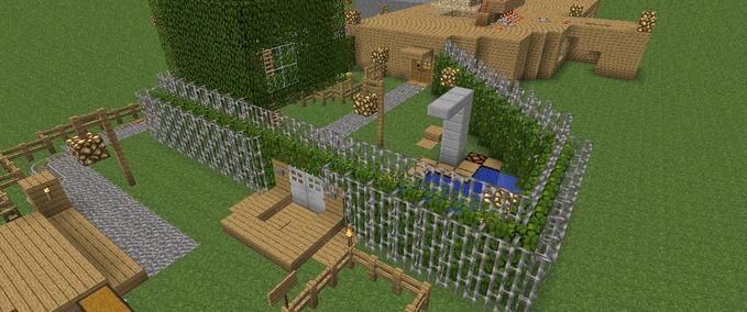 minecraft redstone villa v 1 4 6 1 4 5 maps mod f r minecraft. Black Bedroom Furniture Sets. Home Design Ideas