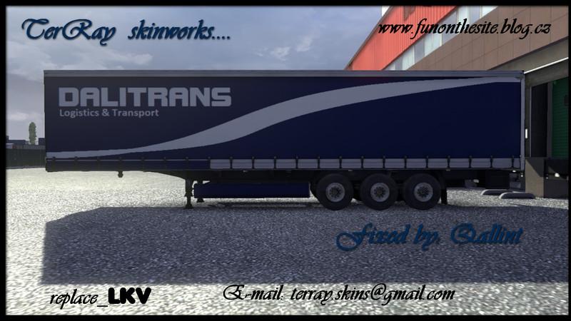 ETS 2: Dalitrans trailer skin v 1 2 5 1 Skins Mod für