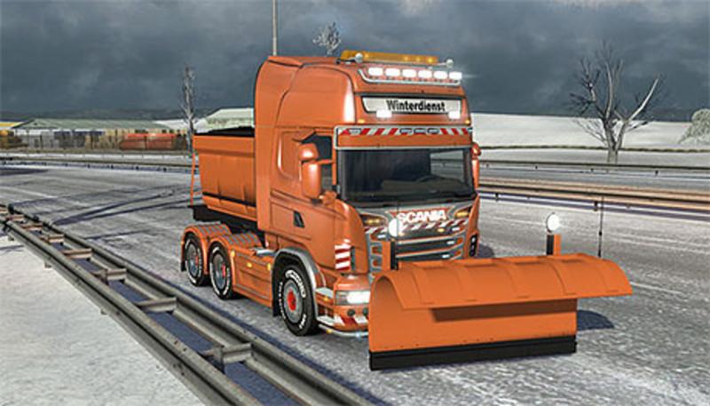 Ets  Scania R V  Snow Plow Scania Mod Fur Eurotruck Simulator  Modhoster Com