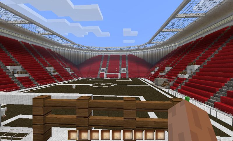 Minecraft Fußball Stadium V Maps Mod Für Minecraft Modhosterde - Minecraft fubball spielen deutsch
