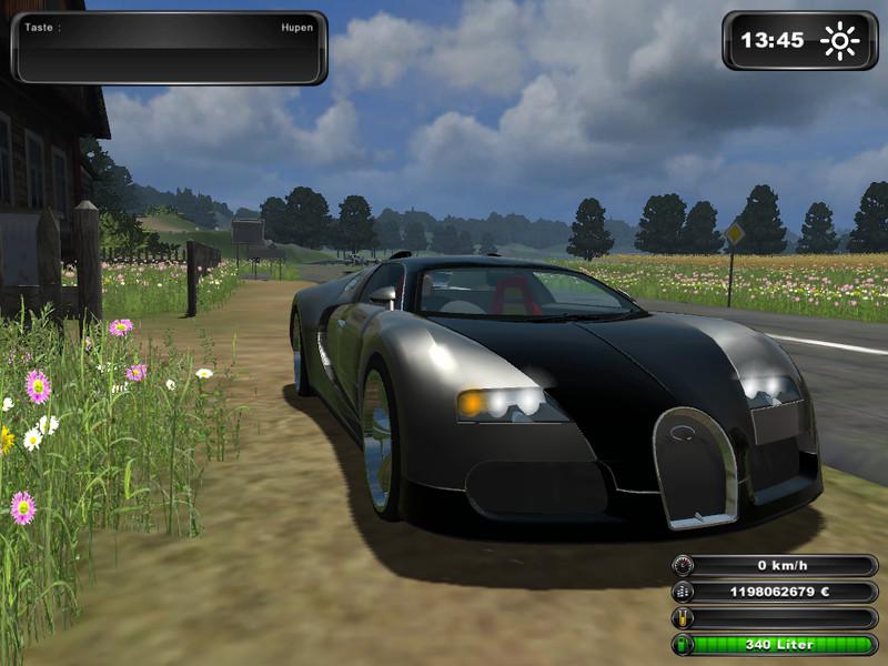 fs 2011 bugatti veyron v 1 0 cars mod f r farming. Black Bedroom Furniture Sets. Home Design Ideas