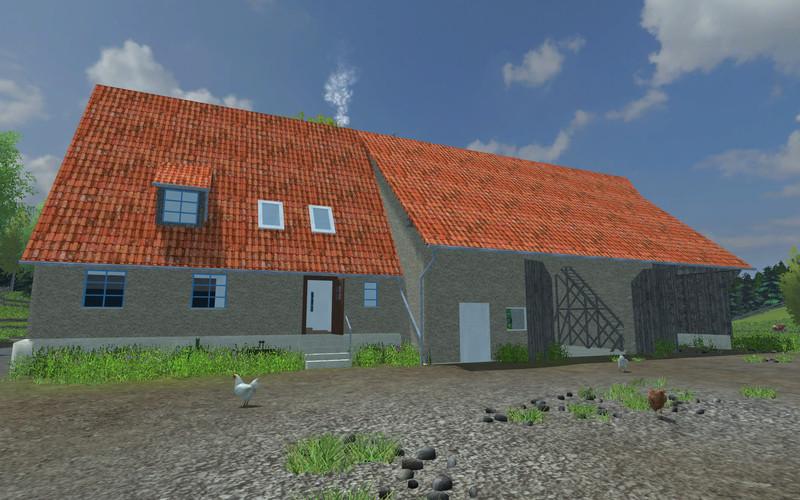FS 2013: Schwäbisches farmhouse and barn v 1 Buildings Mod für Farming Simulator 2013