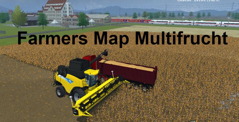 FS 2013: Farmers Map Multifruit v 1.4 Maps Mod für Farming Simulator ...