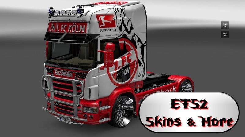 Ets 2 1 Fc Köln Scania Skin V 10 Trucks Mod Für Eurotruck Simulator 2
