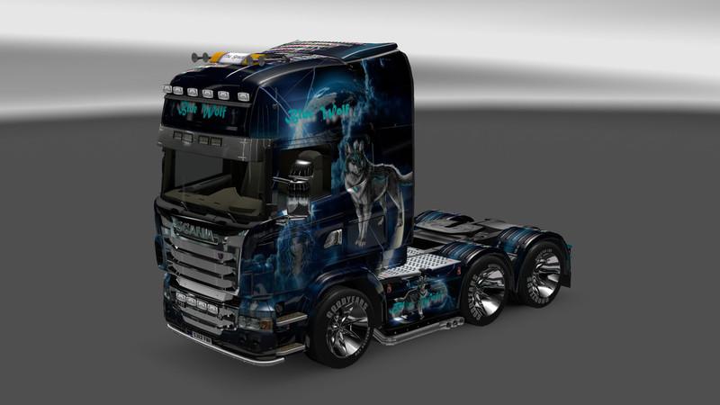 Ets 2 Scania Blue Wolf V 1 3 1 Trucks Mod F 252 R Eurotruck