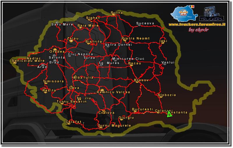 Ets 2 Romanian Map V 1 0 Maps Mod F 252 R Eurotruck Simulator 2