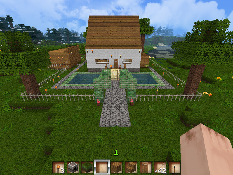 Minecraft 1 familien haus v 1 4 7 maps mod f r minecraft for Minecraft modernes haus download 1 7 2