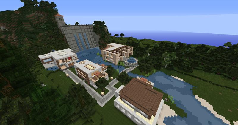 Minecraft Modern Luxury Neighborhood With Homes V Maps - Minecraft hauser luxus