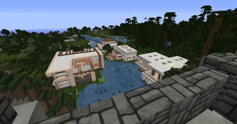 Minecraft Luxus Stadtteil Mit Modernen Hausern V 1 6 1 6 2 Maps