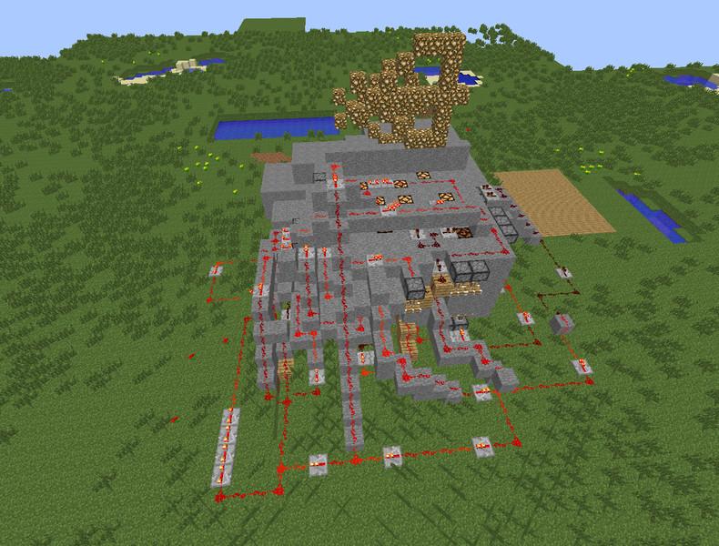 Minecraft redstone house v 1 0 maps mod f r minecraft for Minecraft modernes redstone haus download