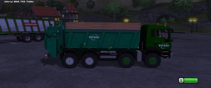 MAN TGS 4 agricultural achser v 1.0 mit Tebbe Mistreuer image