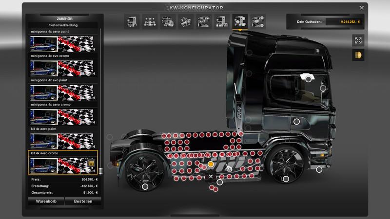 ets 2 scania extrem tuning shop v 2 0 mods mod f r. Black Bedroom Furniture Sets. Home Design Ideas