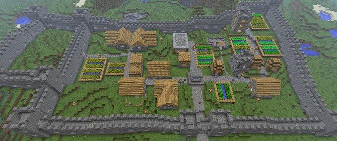 Minecraft Villager Village With Ramparts V 11 Maps Mod