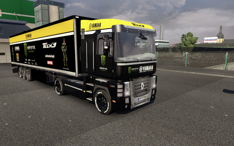 ETS 2: Renault Magnum Monster Yamaha Tech 3 + trailer v 1.3.1 Skins Mod für Eurotruck Simulator 2