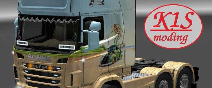 Scaina show truck airbrush skin v 1 by k1s ets2 image