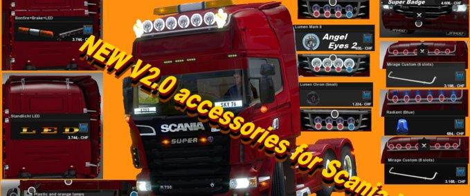 Scania V8 Tuning Mod v 2.0 ets2 image