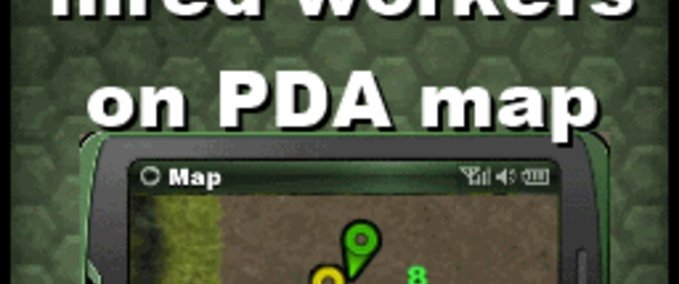Show hired workers on PDA map v 0.96 image