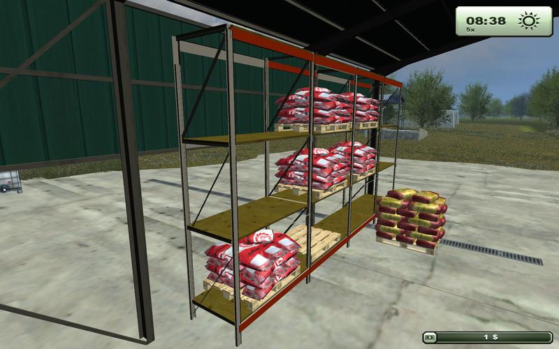 FS 2013 Pallet Shelf V 1 0 Placeable Objects Mod F R