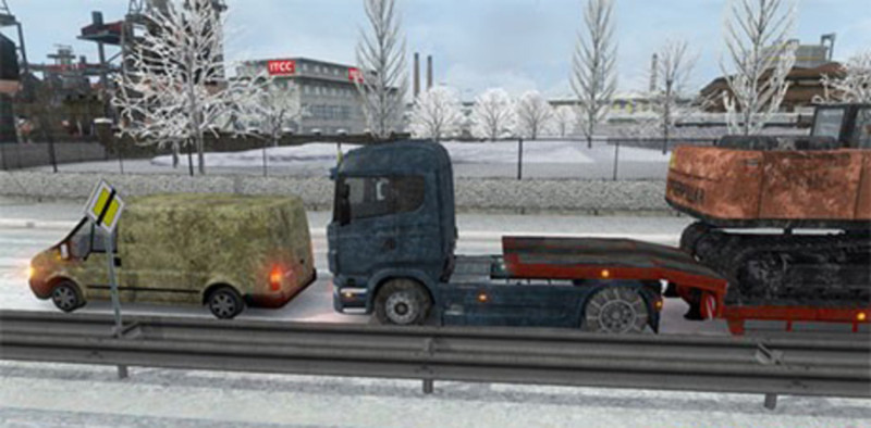 ets 2 winter mod with snow chains for trucks and trailers. Black Bedroom Furniture Sets. Home Design Ideas