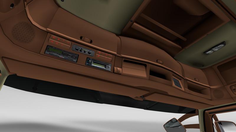 ets 2: Actros Interior Braun Beige mit Navi v 1.2 Interieurs Mod ...