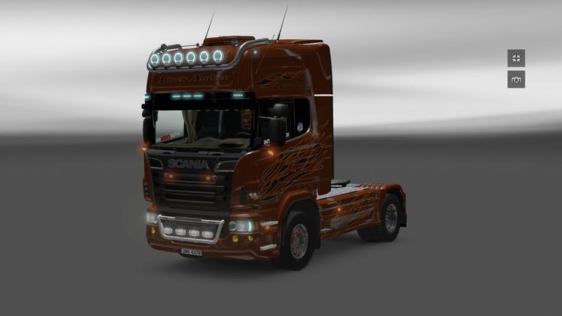 ets 2 scania black amber v 2 5 scania mod f r eurotruck simulator 2. Black Bedroom Furniture Sets. Home Design Ideas