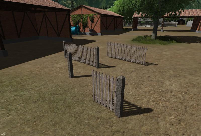 fs 2013 picket fence v 1 0 objects mod f r farming. Black Bedroom Furniture Sets. Home Design Ideas