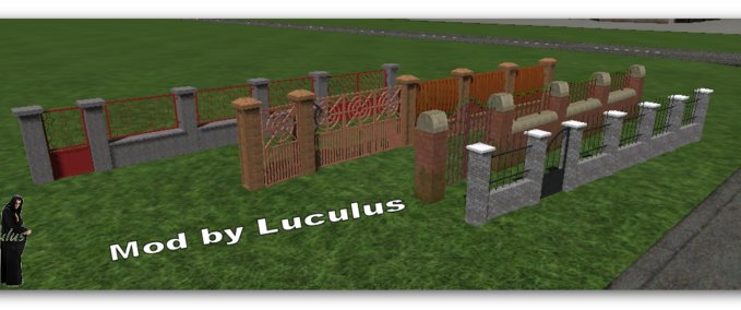 4 different fences with gates v 1.0 image