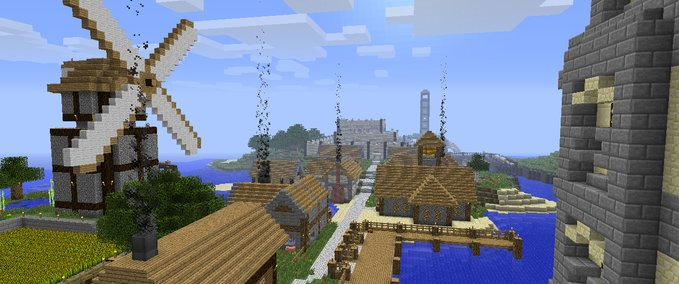 Minecraft: War multiplayer map for FTB ModPack v Hosisten ...