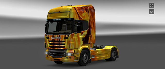 MAN TGX ROM SKIN and Scania Fire Skin v 1,0 ets2 image