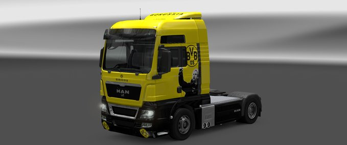 BVB skin for MAN v 1.0 ets2 image
