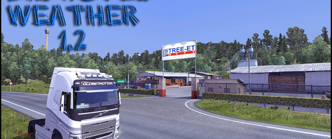 Improved Weather v 1.2 ets2 image