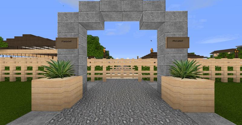 Minecraft: Horseback riding Map v 1 0 Maps Mod für Minecraft