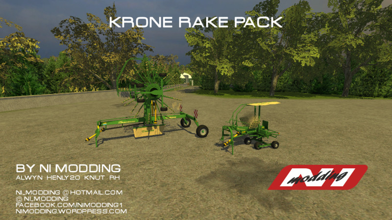 FS 2013: Krone Swadro Rakes v 1 0 Tedders Mod für Farming