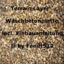 Terrain-waschbetonplatte