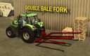 Double-bale-fork