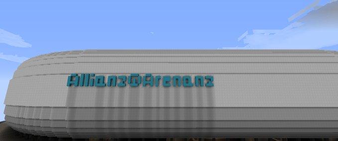 Minecraft: Allianz Arena Munich v 1 7 4 Maps Mod für Minecraft