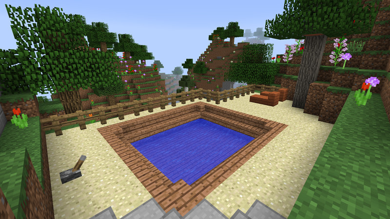 Modhostercom Page - Minecraft hauser mit pool