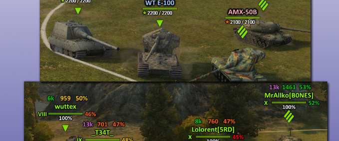 WOT: Aslains XVM Mod v 0.8.10 Mod Packs Mod für World Of Tanks ...